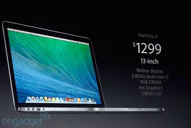 Apple unveils Haswellbased MacBook Pros with Retina display, starting at $1,299