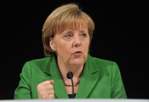 &lt;p&gt;Germany&#39;s Chancellor Angela Merkel, seen here in March 2012, has told her party the country risked becoming a &quot;laughing stock&quot; over a court ruling calling religious circumcision a criminal act, according to a report Monday.&lt;/p&gt;