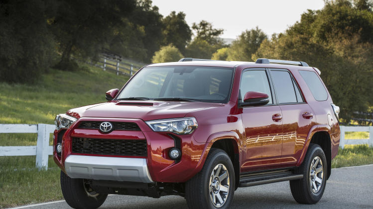 This undated photo made available by Toyota shows the 2014 Toyota 4Runner. (AP Photo/Toyota)