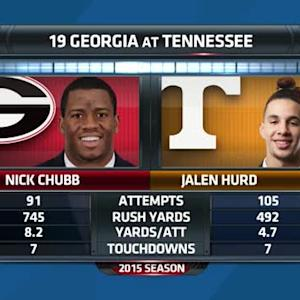 SEC Today: Nick Chubb vs Jalen Hurd (10/7)
