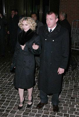 Madonna and director Guy Richie at the New York City premiere of Samuel Goldwyn Films' Revolver