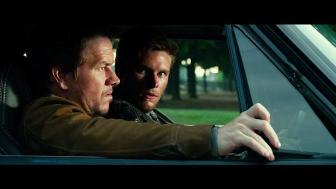 """Screenshot: Reynor can't believe his ears as Wahlberg grills him in """"Transformers: Age of Extinction"""""""