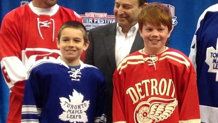 NHL 2014 Winter Classic Jerseys (Photo by Nick Cotsonika @cotsonika)