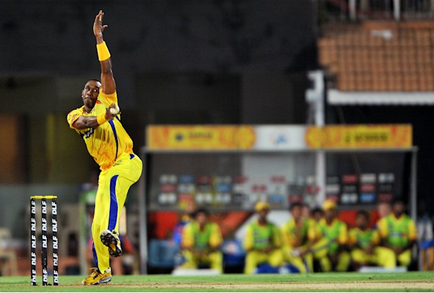 Chennai Super Kings fielder Dwayne Bravo