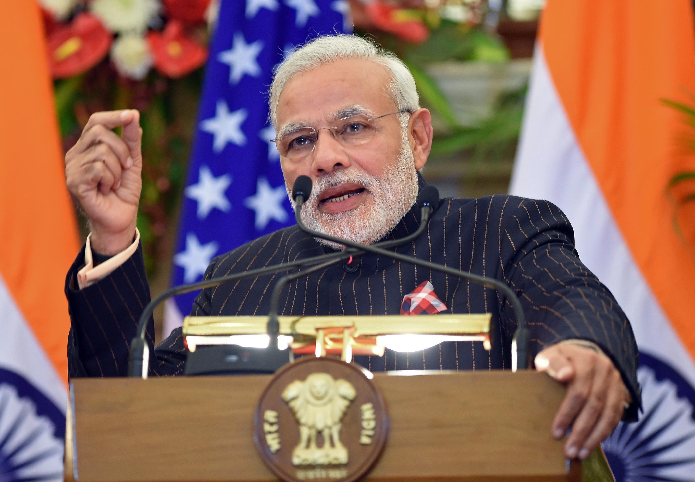Modi says no climate change pressure on India after US-China pact