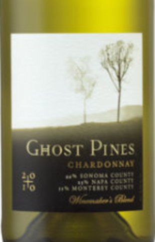The image for Ghost Pines wine is shown.