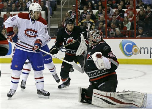 Canadiens double up Hurricanes 4-2