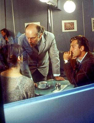 Director John Malkovich with Laura Morante and Javier Bardem in Fox Searchlight's The Dancer Upstairs