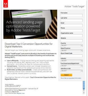 5 Ways to Improve B2B Landing Pages image adobepage