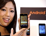 KDDI&#39;s Android OS based smart phone &quot;IS-03&quot; is displayed in 2010. Malware has been spreading on Android mobile phones that takes control of certain email accounts to create a &quot;botnet&quot; to send out spam, a security researcher said this week