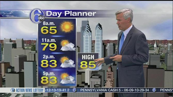 AccuWeather: Warm Again, Spotty Showers Today