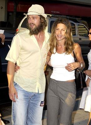 Premiere: Brad Pitt and Jennifer Aniston at the Beverly Hills premiere of Miramax's Full Frontal - 7/23/2002