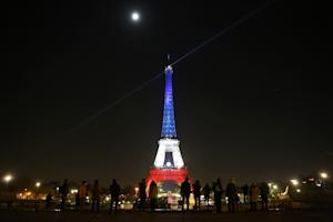 The Eiffel Tower is Illuminated in the colours of the…