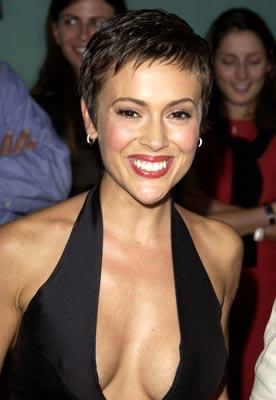 Alyssa Milano at the LA premiere of Paramount's Dickie Roberts: Former Child Star