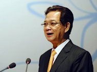 Vietnamese Prime Minister Nguyen Tan Dung, pictured in September 2012. Vietnam's prime minister escaped disciplinary action from communist party chiefs on Monday despite anger over a string of financial scandals and an economic malaise that have marred his leadership