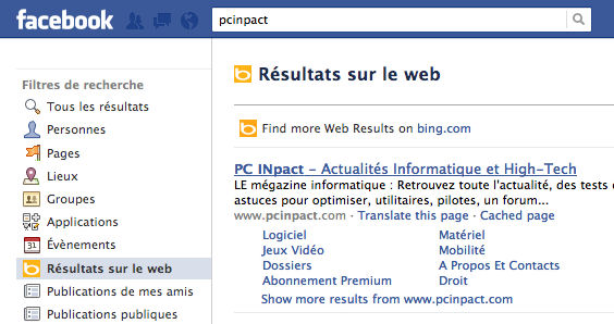 Bing Facebook PCINpact