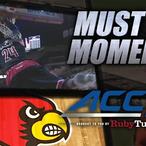 UL's Harrell Thunderous Half-Court Alley-Oop Dunk | ACC Must See Moment