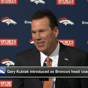 Denver Broncos head coach Gary Kubiak: I've had good discussions with Peyton Manning