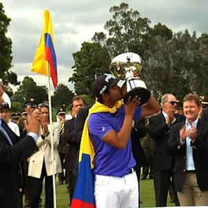 Sebastian Munoz interview after winning the 2016 Club Colombia Championship