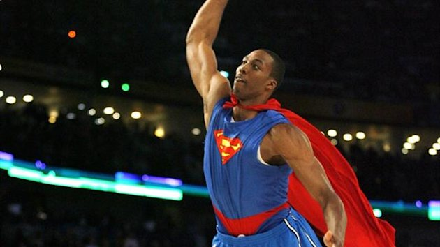 Orlando Magic's Dwight Howard at the NBA All-Star Slam Dunk competition in 2008 (Reuters)