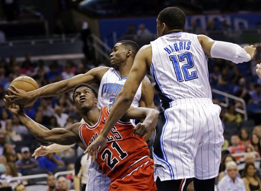 Bulls snap 2-game skid, run by Magic 102-84