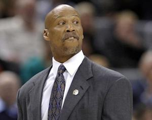 Cavaliers head coach Byron Scott walks off the court after being ejected during their NBA basketball game in Toronto