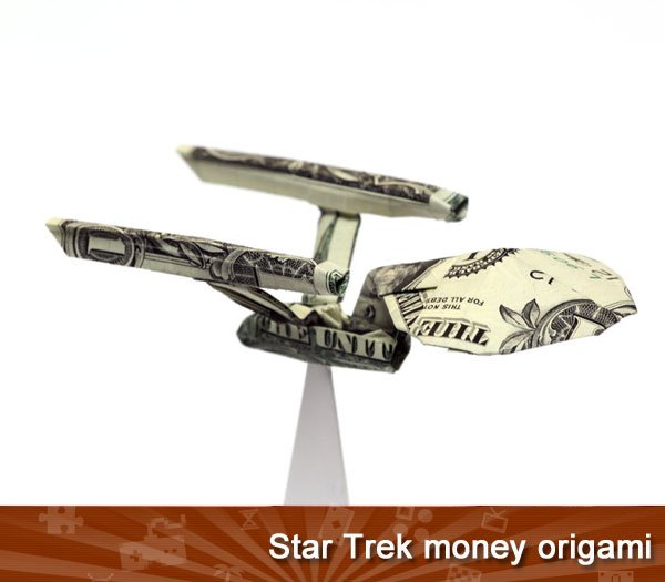 Star Trek money origami
