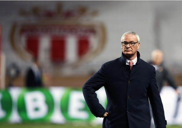 AS Monaco's coach Claudio Ranieri arrives on the field before their French Ligue 1 soccer match against Sochaux at Louis II stadium in Monaco