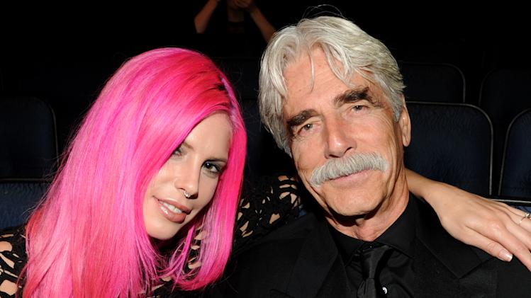 EXCLUSIVE - From left, Cleo Cole Elliott and Sam Elliott attend the