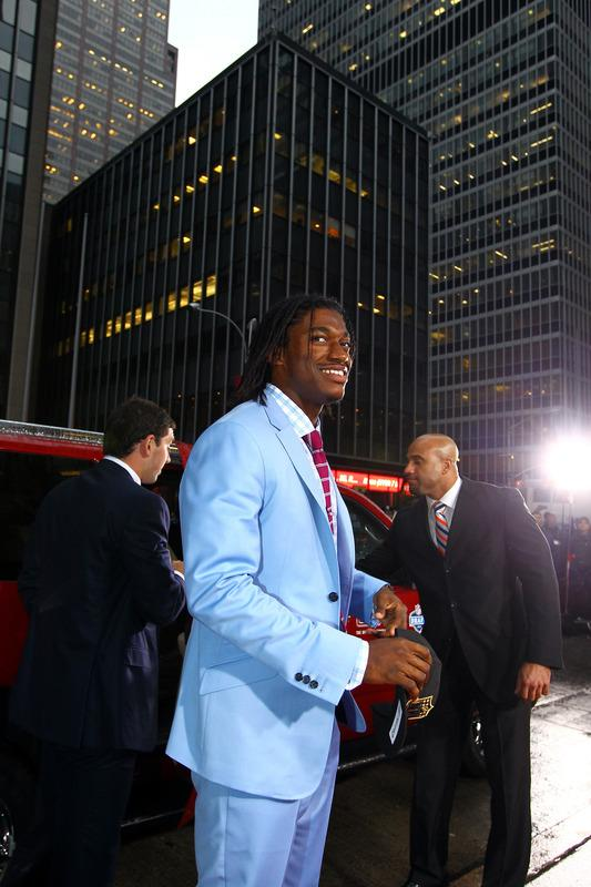 Quarterback Prospect Robert Griffin III From Baylor Arrives Getty Images