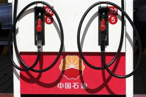 File picture shows a PetroChina logo at a gas station in Beijing