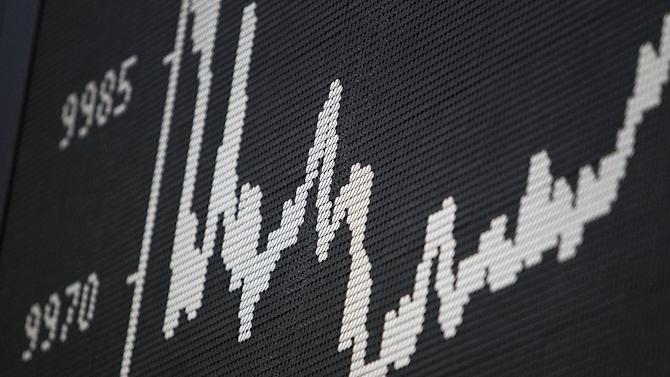 A display shows the graph of Germany's DAX index at the stock exchange in Frankfurt on June 2, 2014