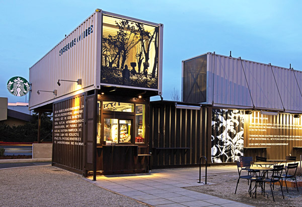 Starbucks Made Out of Shipping Containers 600 x 412