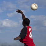 Disabled Haitians play soccer. (AP Photo/Ramon Espinosa)