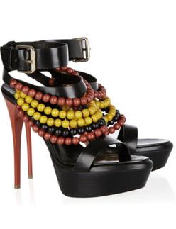 Burberry Prorsum Beaded Leather Sandals