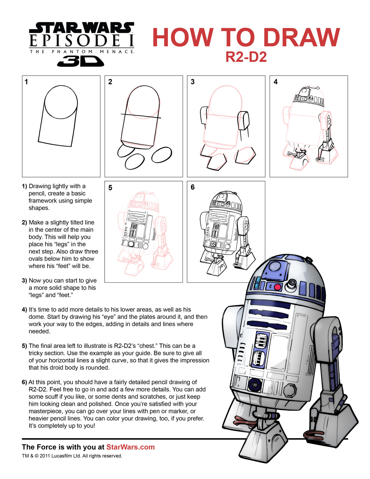 Kids DRAW R2-D2 & THE QUEEN OF
