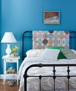 Turn a Quilt Into a Headboard