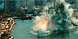 Aliens launch an attack in 'Battleship' (Y! Movies)