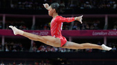 .S. gymnast Gabrielle Douglas performs on the balance beam (AP)