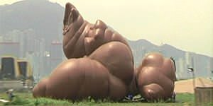 Giant inflatable dog poop 'modern art'