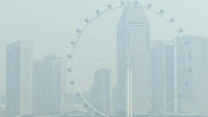 Singapore covered in 'unhealthy' haze