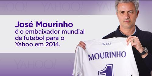 José Mourinho é o embaixador mundial de futebol para o Yahoo em 2014.