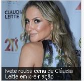 Ivete rouba cena de Cláudia Leitte em premiação