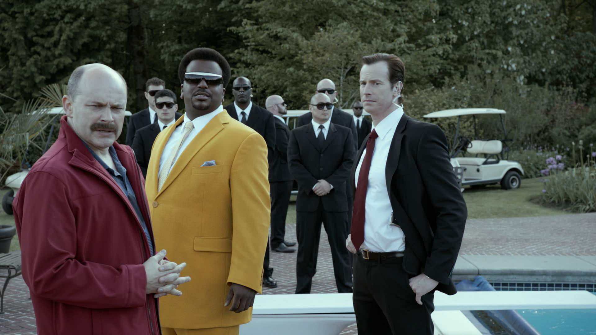 Rob Corddry, Craig Robinson & Rob Huebel in Lionsgate Home Entertainment's 'Rapture-Palooza'.