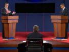 Candidates at podium