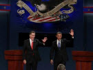Candidates waving