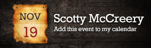 Scotty McCreery - Add this event to my calendar