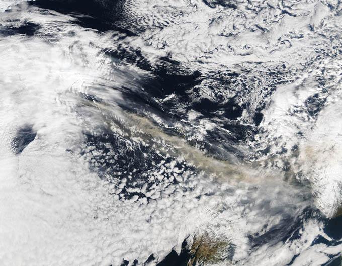 Las fotos del año 2010 Eyjafjallajokull-NASA-Getty
