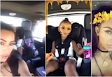 Kim Kardashian and Daughter North West Adorably Try Out New Snapchat Filters