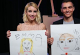 Emma Roberts and Dave Franco draw hyperrealistic portraits of each other